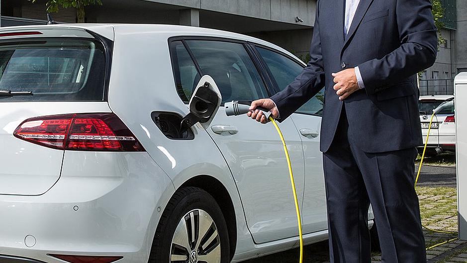 Ladestation E-Mobilität VW Golf